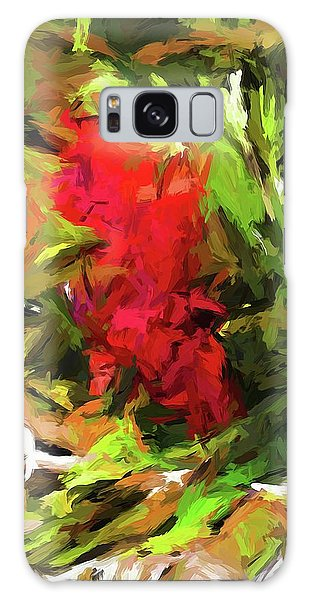 Red Flower On The Branch Galaxy Case