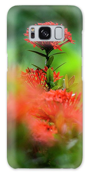 Red Flower Galaxy Case