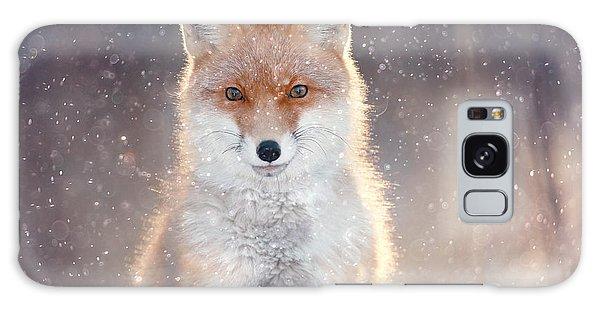 Furry Galaxy Case - Red Fox In Winter Forest Pretty by Kichigin