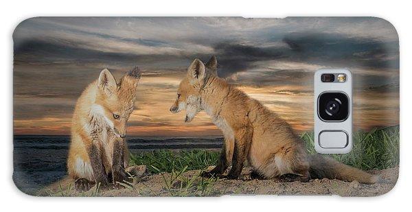Red Fox Kits - Past Curfew Galaxy Case