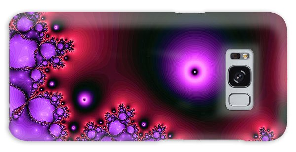 Red Glowing Bliss Abstract Galaxy Case
