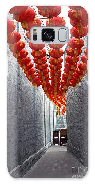 Decorative Galaxy Case - Red Lantern In The Alley,beijing by Long8614