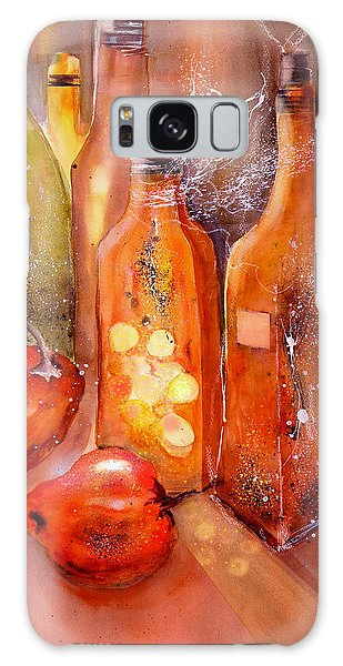Red Peppers And Olive Oil Still Life Galaxy Case
