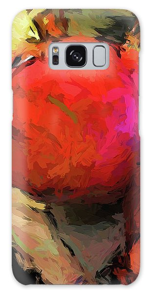 Red Pomegranate In The Yellow Light Galaxy Case