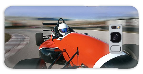 Technology Galaxy Case - Red Racing Car Driving At High Speed In by Guillermo Pis Gonzalez