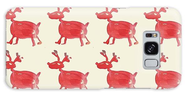 Red Reindeer Pattern Galaxy Case