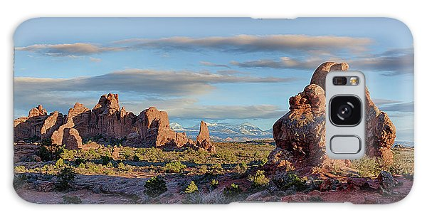 Galaxy Case featuring the photograph Red Rock Formations Arches National Park  by Nathan Bush