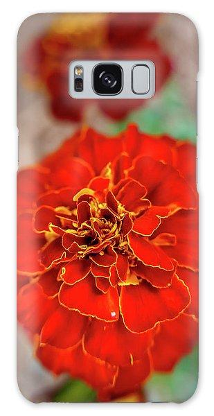 Red Summer Flowers Galaxy Case