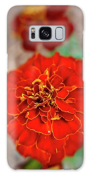 Red Summer Flowers Galaxy Case