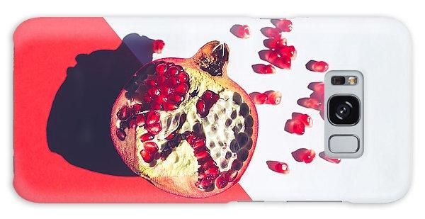 Tasty Galaxy Case - Red Vibrant Pomegranate On Multi by Ale De Sun