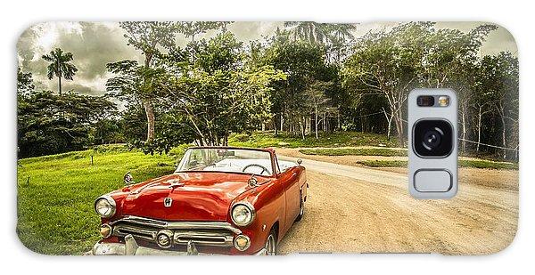 Red Vintage Car Galaxy Case