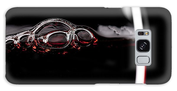 Drop Galaxy Case - Red Wine Glass Silhouette On Black by R.classen