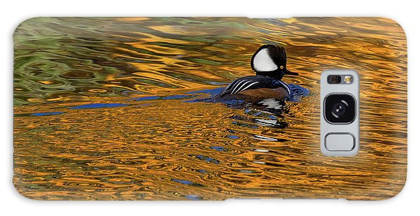 Reflecting With Hooded Merganser Galaxy Case