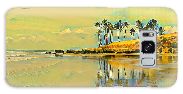 Reflection Of Coastal Palm Trees Galaxy Case