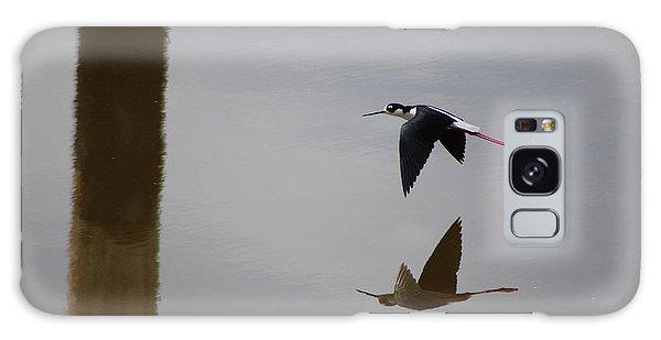 Reflection Of The Salton Sea Black Neck Stilt Flying Galaxy Case