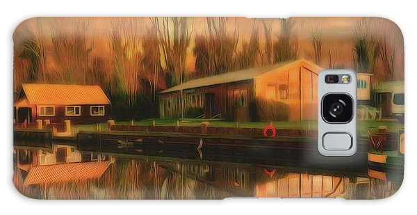 Galaxy Case featuring the photograph Reflections On The Wey by Leigh Kemp