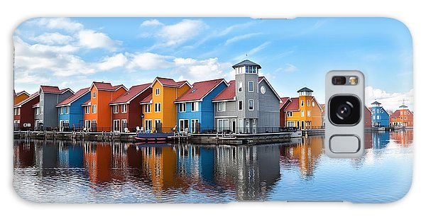 No People Galaxy Case - Reitdiephaven - Colorful Buildings On by Olha Rohulya