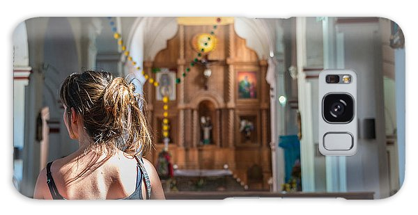 Spirituality Galaxy Case - Religious Scene Young Female Praying At by Dc aperture