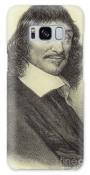 Philosopher Galaxy Case - Rene Descartes, French Philosopher, Mathematician And Writer by French School