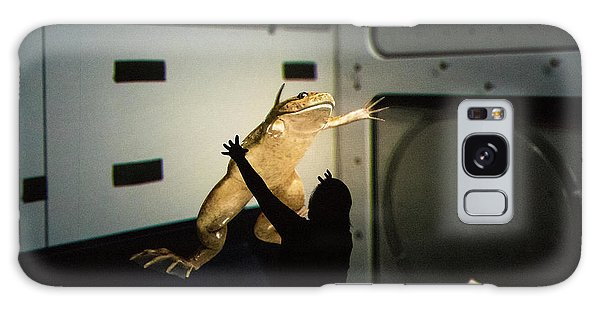Galaxy Case featuring the photograph Rescue Of The Space Frog by Alex Lapidus