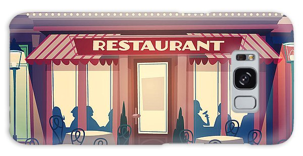 Restaurants Galaxy Case - Restaurant Facade. Retro Style Vector by Doremi