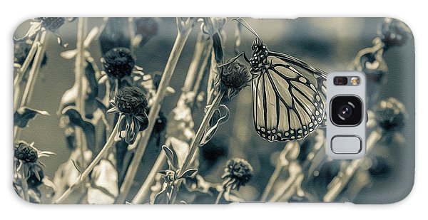 Resting Butterfly Bw Galaxy Case