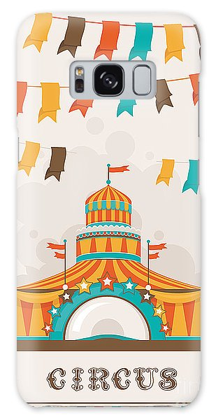 Event Galaxy Case - Retro Circus Poster With A Big Top by Alexey Vl B