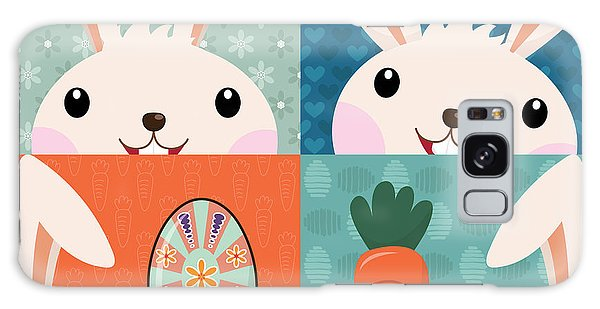 Event Galaxy Case - Retro Easter Bunny With Painted Eggs by Jayz