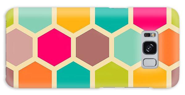 Form Galaxy Case - Retro Geometric Hexagon Seamless Pattern by Victoria Kalinina