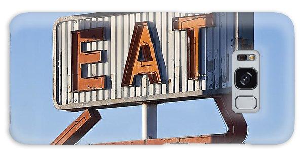 Restaurants Galaxy Case - Retro Neon Eat Sign Ruin In Early by Trekandshoot