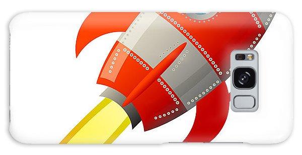Scientific Illustration Galaxy Case - Retro Rocket, Vector Illustration by Astudio