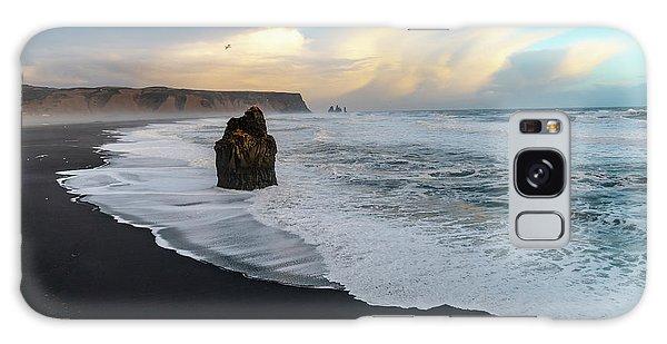 Reynisfjara Beach At Sunset Galaxy Case