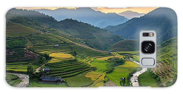 Ecology Galaxy Case - Rice Field On Terraces Panoramic by Cw Pix