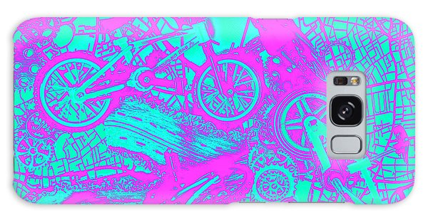 Neon Galaxy Case - Riding Retro Routes by Jorgo Photography - Wall Art Gallery