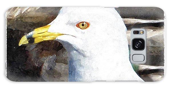 Ringbilled Gull Portrait Galaxy Case