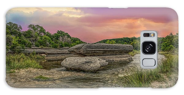 River Erosion At Sunset Galaxy Case