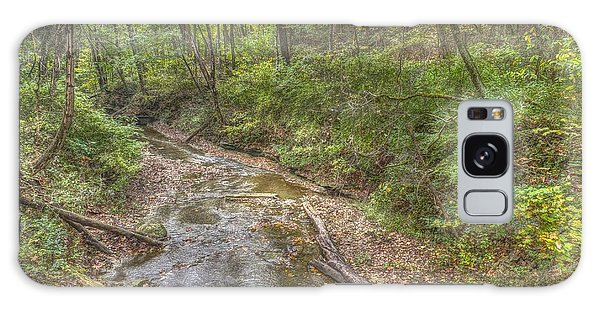 River Flowing Through Pine Quarry Park Galaxy Case