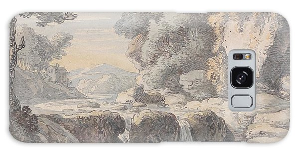 Waterfall Galaxy Case - River Landscape With A Waterfall by Thomas Rowlandson