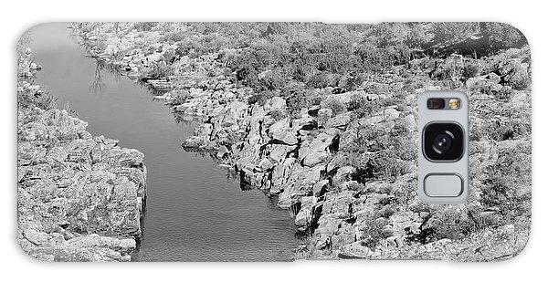 River On The Rocks. Bw Version Galaxy Case