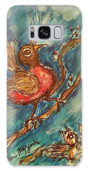 Song Birds Galaxy Case - Rocking Robin Singing His Song by Geraldine Myszenski