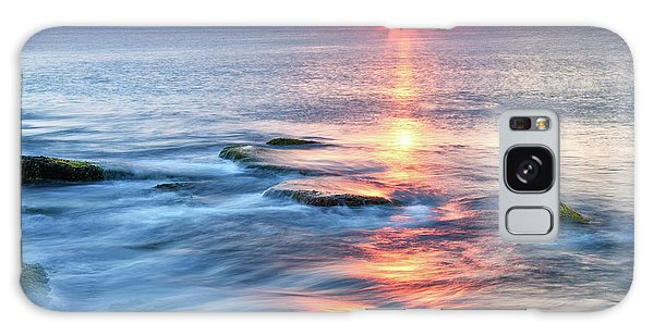 Galaxy Case featuring the photograph Rockport Pastel Sunset Ma. by Michael Hubley