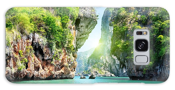 Scenery Galaxy Case - Rocks And Sea In Krabi Thailand by Esb Professional