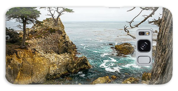 Monterey Galaxy Case - Rocky Cliff And Trees In Carmel Near by Lynn Yeh