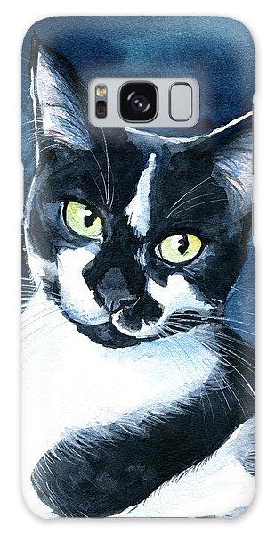 Rollie Tuxedo Cat Painting Galaxy Case