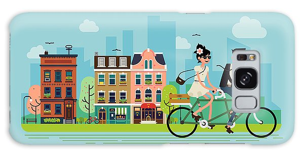 Two People Galaxy Case - Romantic Vector Concept Illustration On by Mascha Tace