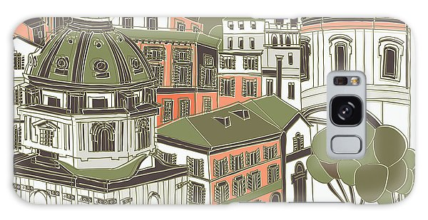 City Map Galaxy Case - Rome Greeting Card Design by Lavandaart