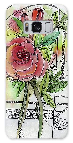 Rose Is Rose Galaxy Case