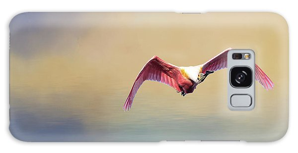 Roseate Spoonbill At Sunrise Galaxy Case