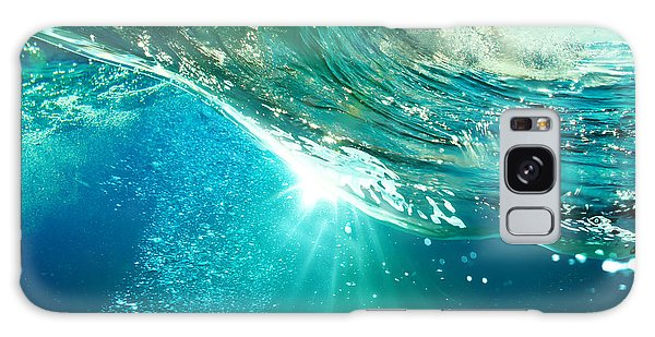 Horizontal Galaxy Case - Rough Colored Ocean Wave Breaking Down by Willyam Bradberry