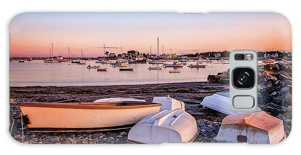 Rowboats At Rye Harbor, Sunset Galaxy Case